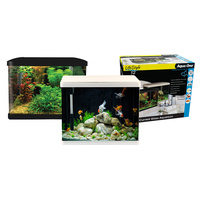 AQUA ONE LIFESTYLE 52 BLACK 52L AQUARIUM SET LED LIGHTING BUILT IN FILTRATION