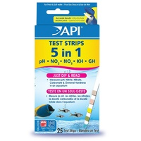 Api 5 In 1 Aquarium Test Strips X25