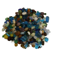 Anchor Blue Multi Mix Glass Beads 500g
