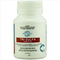 Blue Planet Tri Sulfa Tablets X100 White Spot - Columnaris - Fin & Tailrot - Bacterial Diseases - Trisulfa