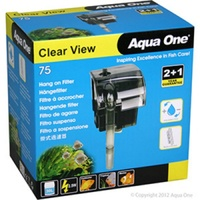 Aqua One Clear View Hang On Filter 75 Waterfall Filter Hang On Back 29023