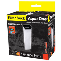 Aqua One Filter Sock 150 Micron Mesh To Trap Fine Particles Sump 50103