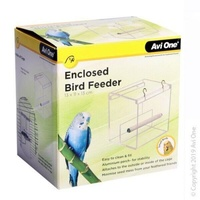 Avi One Enclosed Bird Feeder Acrylic 13x11x13cm 42200