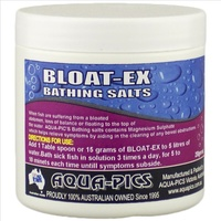 Aqua-Pics Bloat-Ex Bathing Salts For Bloated Unbalanced & Floating Fish 150g