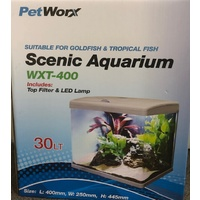Petworx Scenic 400 Aquarium Black 30L LED Filter
