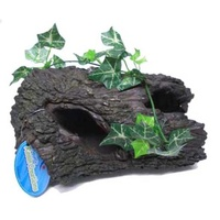 Petworx L Plant Tree Log 24X16X10Cm Hollow Log Catfish