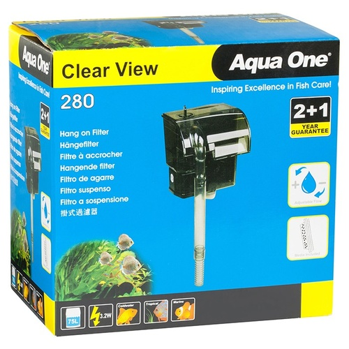 Aqua One Clear View 280 Waterfall Filter Hang On Back 11527